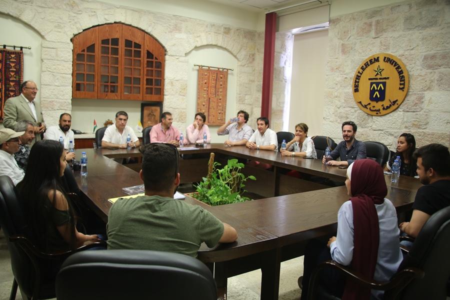 Chilean MPs visit Bethlehem University campus
