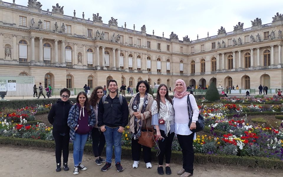 Five Bethlehem University Students Visit France