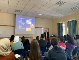 Prof. Graham-Brown Visits Campus and Gives Lecture