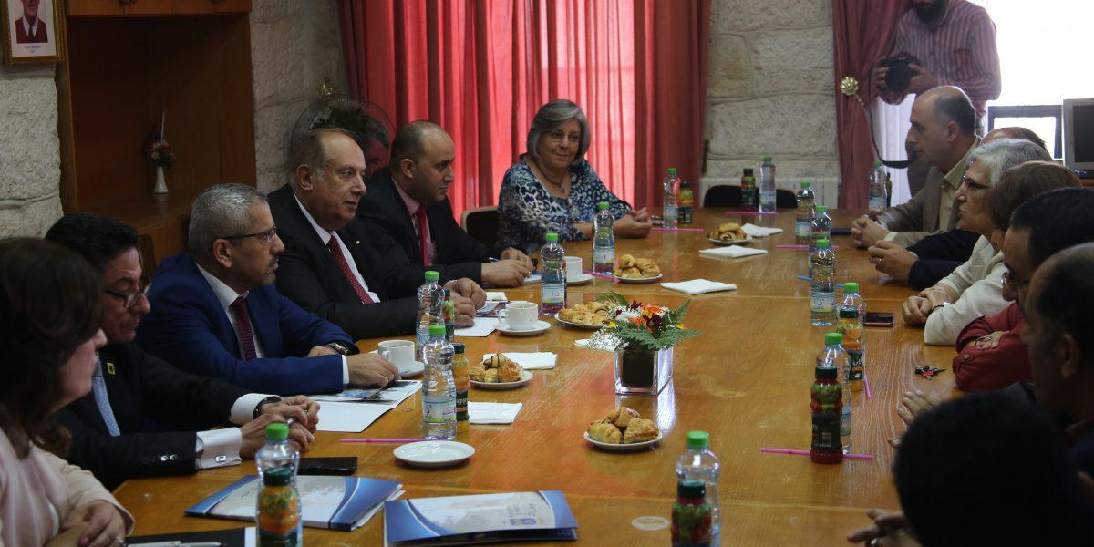 Bethlehem University, Higher Education Minister Discuss Future Cooperation