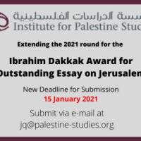 Ibrahim Dakkak Award forOutstanding Essay on Jerusalem